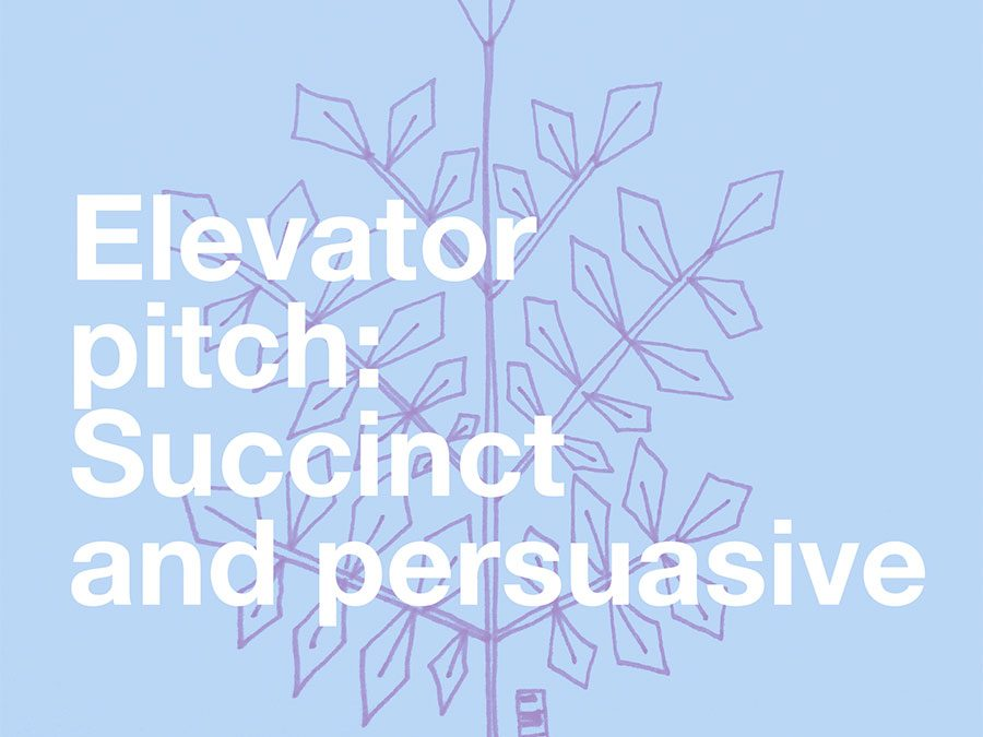 Why I'm working on my elevator pitch