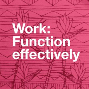 Work - Function Effectively